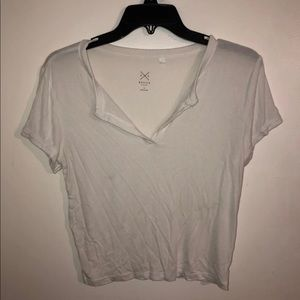 Pacsun White ribbed Top